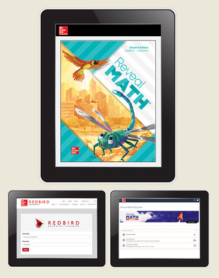 Reveal Math, Grade 2, Student Digital Bundle with Redbird and Arrive Math Booster, 1-year