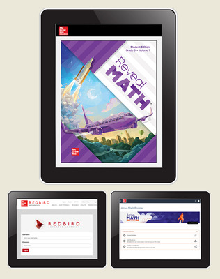 Reveal Math, Grade 5, Student Digital Bundle with Redbird and Arrive Math Booster, 1-year