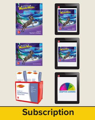 Wonderworks Grade 5 Comprehensive bundle 6 SE seats with 5 year Digital subscriotion