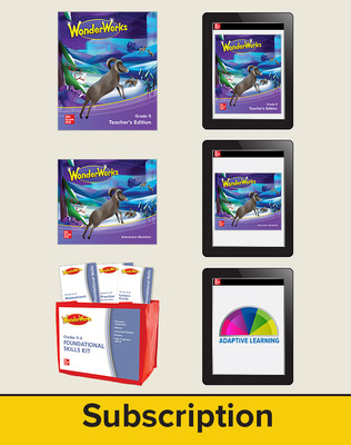 WonderWorks Grade 5 Comprehensive Classroom Package with 3 Year Subscription