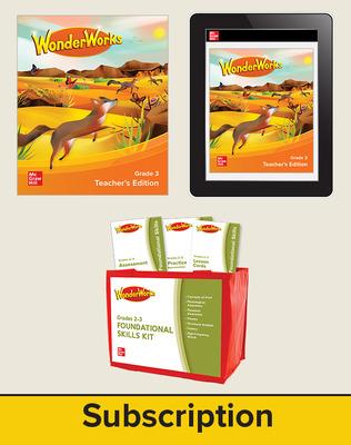WonderWorks Grade 3 Classroom Bundle with 2 Year Subscription