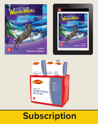 WonderWorks Grade 5 Classroom Bundle with 7 Year Subscription