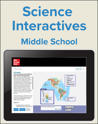 Inspire Science Middle School Virtual Lab, 1 Teacher, 1 Student Digital Bundle, 1 Year Subscription