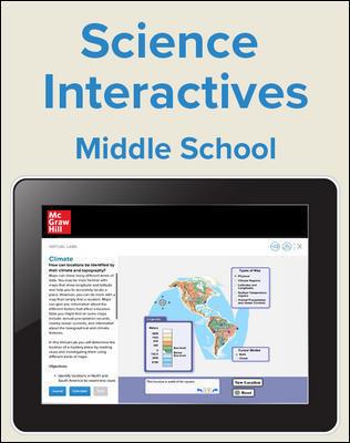 Inspire Science Middle School Virtual Lab, 1 Teacher, 1 Student Digital Bundle, 2 Year Subscription