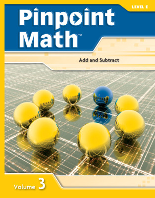 Pinpoint Math Grade 5/Level E, Student Booklet Volume III