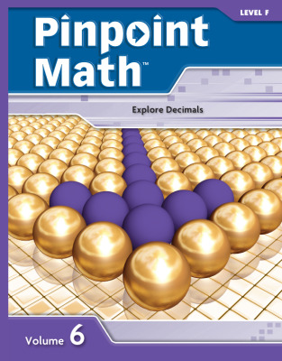 Pinpoint Math Grade 6/Level F, Student Booklet Volume VI