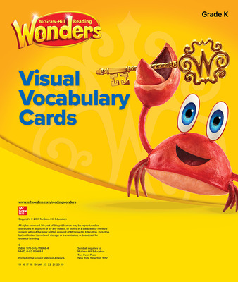 Reading Wonders Visual Vocabulary Cards Grade K