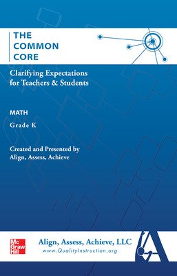 AAA The Common Core: Clarifying Expectations for Teachers and Students. Math, Kindergarten