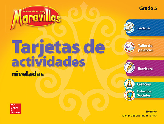 Lectura Maravillas, Grade 5, Workstation Activity Cards Package (4 Cards)