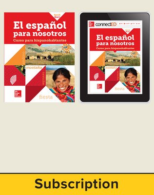 El Espanol para Nosotros Level 1 Student Edition with Online Student Edition, 6-year subscription