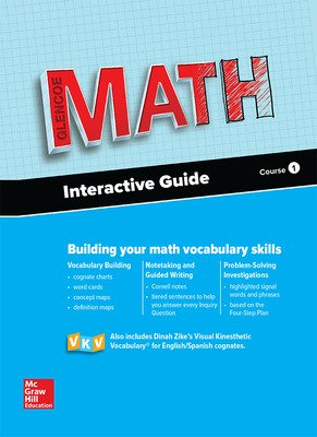 Glencoe Math, Course 1, Interactive Guide for English Learners, Student Edition