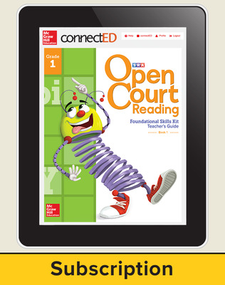Open Court Reading Foundational Skills Kit Teacher License, 1-year subscription Grade 1