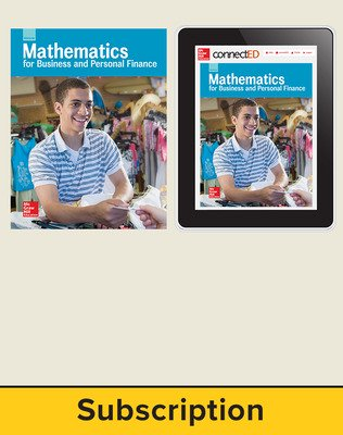 Glencoe Mathematics for Business and Personal Finance, Print Student Edition and Online SE Bundle, 6 year subscription