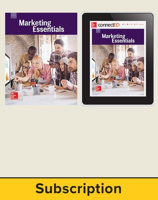 Glencoe Marketing Essentials, Print Student Edition and Online Bundle, 6 year subscription
