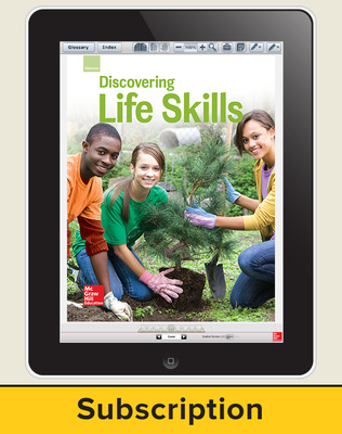 Glencoe Discovering Life Skills, Online Teacher Center, 1 year subscription