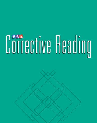 Corrective Reading Comprehension Level C, Student Workbook