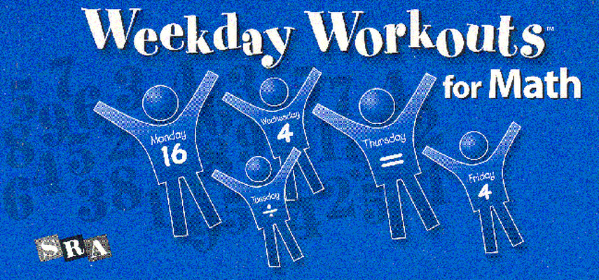 Weekday Workouts for Math, Student Booklet 10-Pack Grade 4
