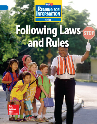 Reading for Information, Above Student Reader, Civics - Following Laws and Rules, Grade 2