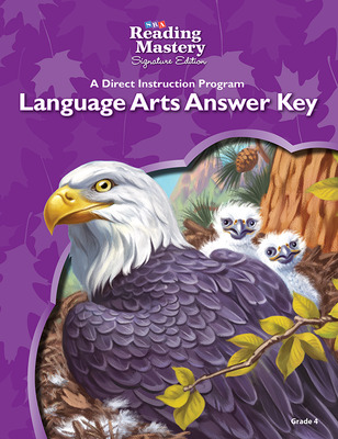 Reading Mastery Language Arts Strand Grade 4, Answer Key