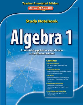 Algebra 1 Study Notebook, Teacher Annotated Edition
