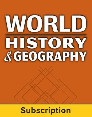 World History and Geography, Complete Classroom Set, Print & Digital, 1-year subscription (set of 30)