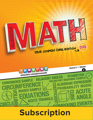 Glencoe Math, Course 2, eTeacherEdition Online, 1-year Subscription