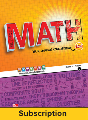 Glencoe Math, Course 3, eStudentEdition Online, 1-year Subscription