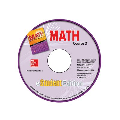 Glencoe Math, Course 3, eStudentEdition CD-ROM