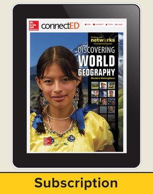 Discovering World Geography, Western Hemisphere, Student Learning Center, 6-Year Subscription
