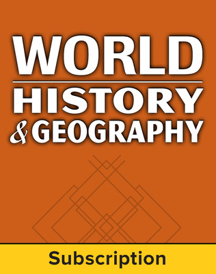 World History and Geography, Complete Classroom Set, Print & Digital, 6-year subscription (set of 30)