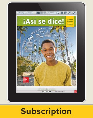 Asi se dice Level 3, Teacher Suite 1-year subscription