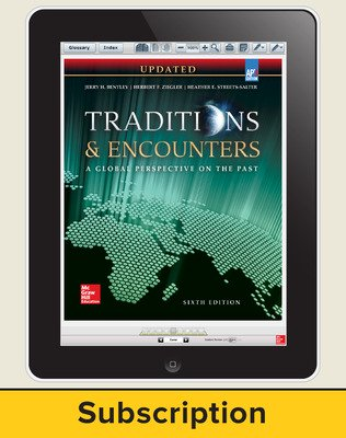 Bentley, Traditions & Encounters: A Global Perspective on the Past UPDATED AP Edition, 2017, 6e, ConnectED eBook, 6-year Subscription
