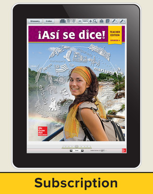 Asi se dice Level 4, Teacher Suite 1-year subscription