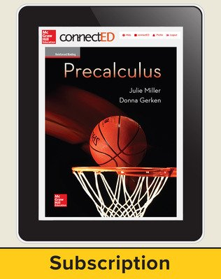 Miller, Precalculus, 2017, 1e, ConnectED eBook, 6-year subscription