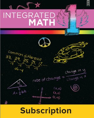 Integrated Math, Course 1, Student Bundle, 1-year Subscription