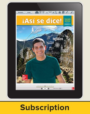 Asi se dice Level 1B, Teacher Suite 1-year subscription