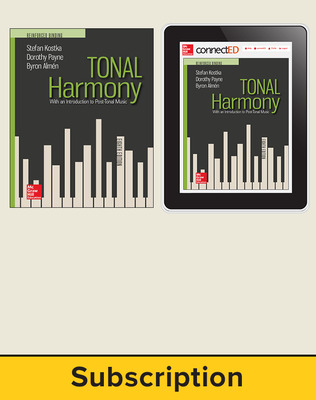 Kostka, Tonal Harmony, 2018, 8e, Student Bundle (Student Edition with ConnectED eBook), 1-year subscription