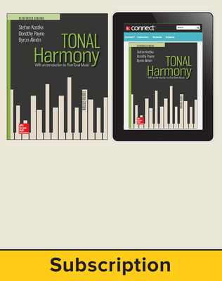 Kostka, Tonal Harmony, 2018, 8e, Standard Student Bundle (Student Edition with Connect), 1-year subscription
