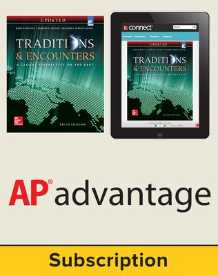 Bentley, Traditions & Encounters: A Global Perspective on the Past UPDATED AP Edition, 2017, 6e, Standard Student Bundle, 1-year subscription (Student Edition with Connect)