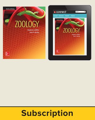 Miller, Zoology, 2016, 10e (Reinforced Binding) Standard Student Bundle (Student Edition with Connect), 1-year subscription