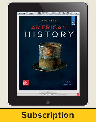 Brinkley, American History: Connecting with the Past UPDATED AP Edition, 2017, 15e, ConnectED eBook 1-year Subscription