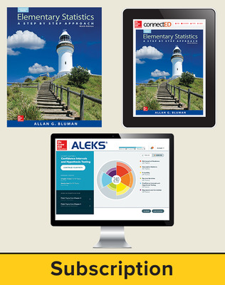 Bluman, Elementary Statistics © 2015, 9e ALEKS 360 Premium Print Bundle, 6-year Subscription