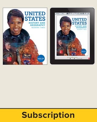 United States History and Geography: Modern Times, Student Suite with LearnSmart Bundle, 1-year subscription