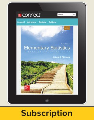 Bluman, Elementary Statistics, 2018, 10e, ConnectED eBook, 1-year subscription