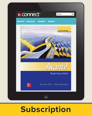Aski, Avanti!, Introductory Italian, 2018, 4e, Connect, 6-year subscription