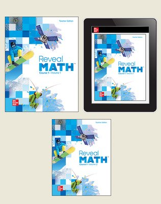 Reveal Math Course 1, Teacher Bundle (TEs and Teacher Digital License), 6-year subscription