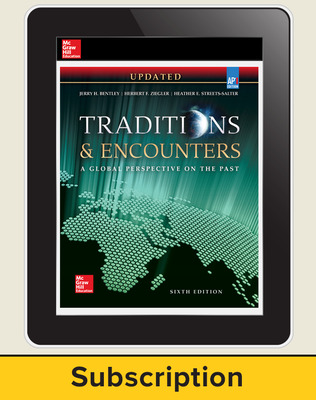 Bentley, Traditions & Encounters: A Global Perspective on the Past UPDATED AP Edition, 2017, 6e, Online Student Edition, 6-year subscription