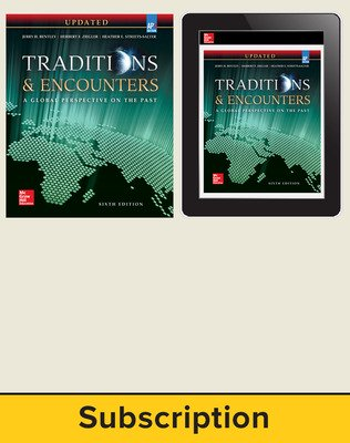 Bentley, Traditions & Encounters: A Global Perspective on the Past UPDATED AP Edition, 2017, 6e, Print and Digital bundle, 1-year subscription