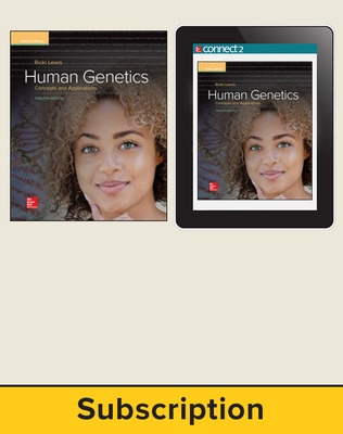 Lewis, Human Genetics, 2018, 12e (Reinforced Binding) Standard Student Bundle, 6-year subscription