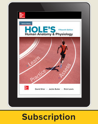 Shier, Hole's Human Anatomy & Physiology, 2019, 15e, Online Student Edition, 1-year subscription